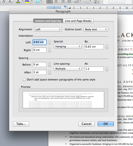 make word document one long page