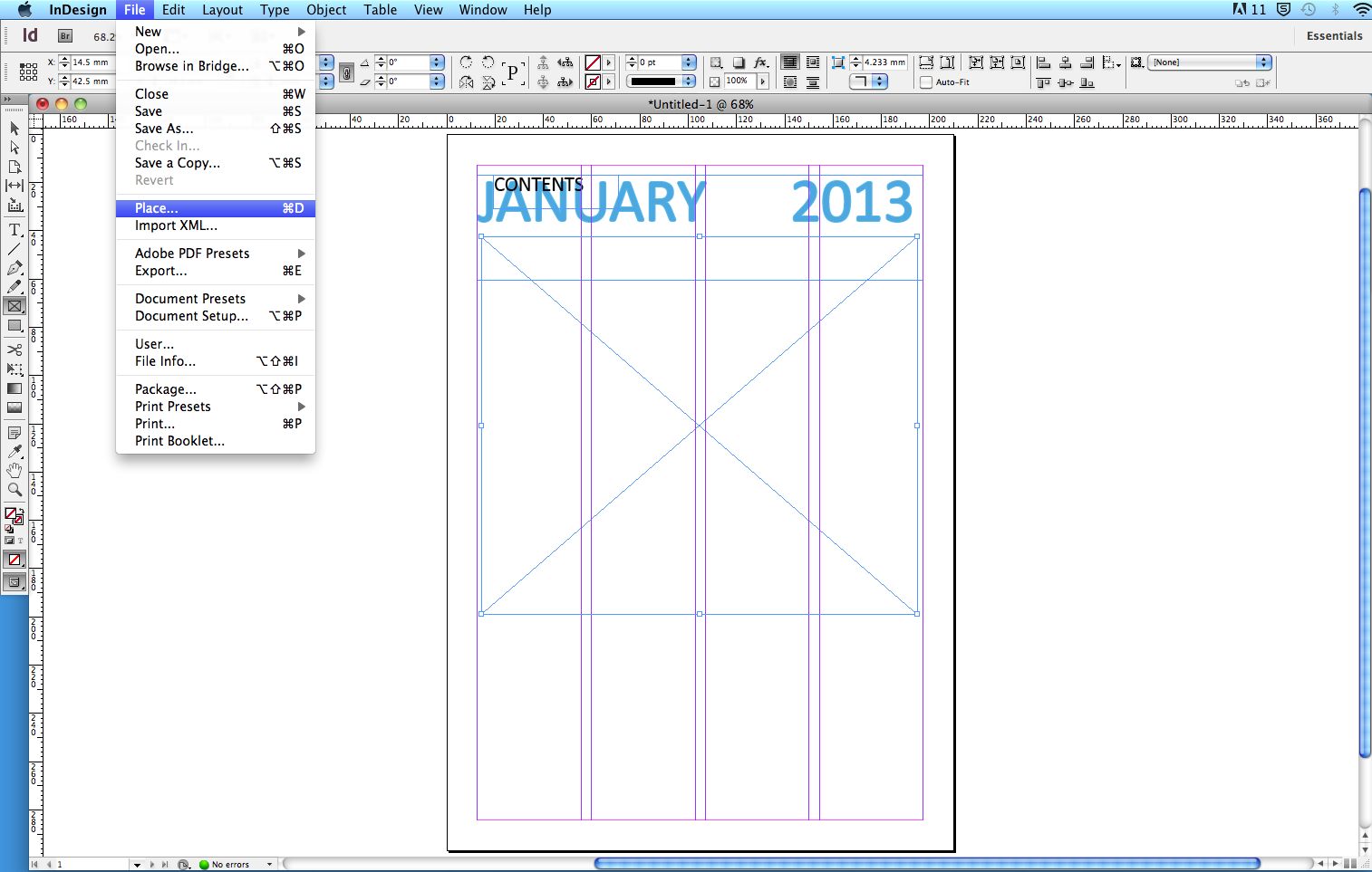 indesign inserting pages from another document