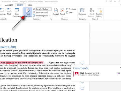 how to print word document with comments