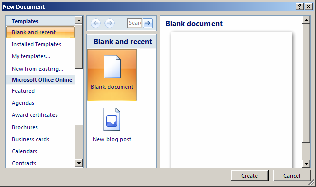 creating a faq document in word