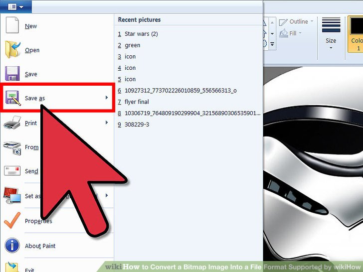 how to convert a document into jpeg format