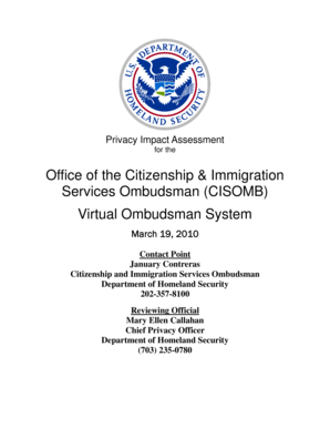 what is immigration document on vos