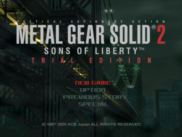the document of metal gear solid 2 iso