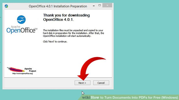 how to turn an openoffice document into a pdf