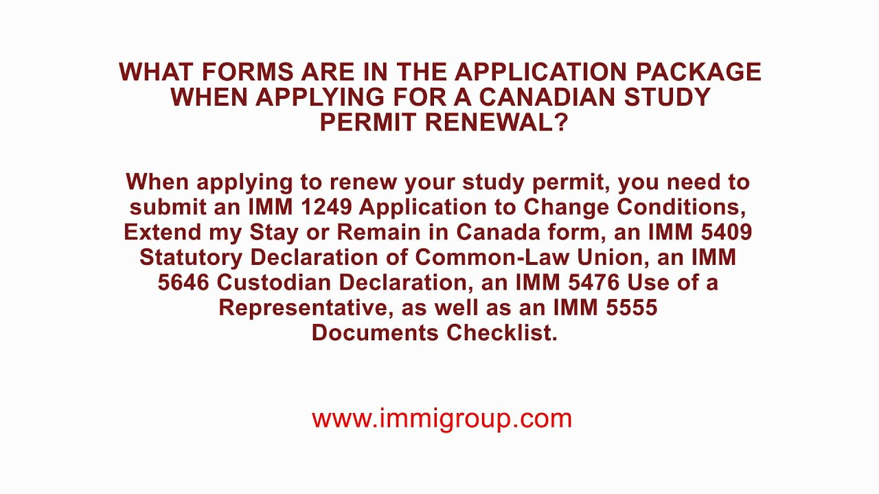 document number for study permit canada