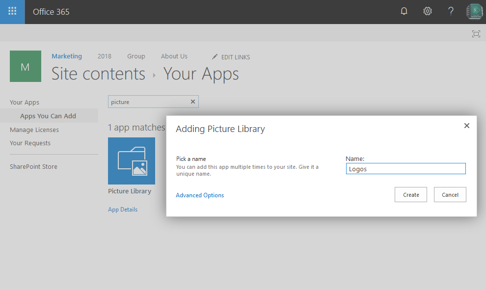 powershell sharepoint online create document library