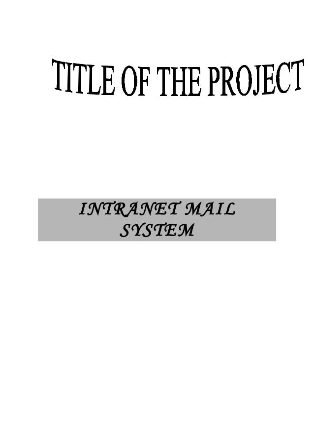 intranet mailing system project documentation