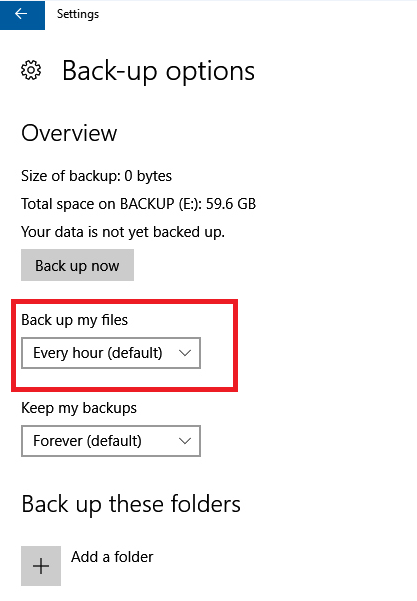 windows 10 find document in backup