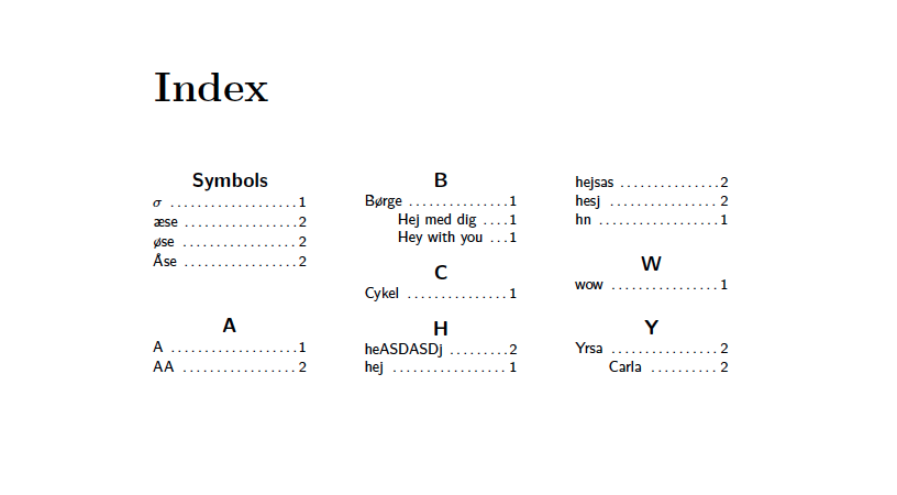 how to make document in latex