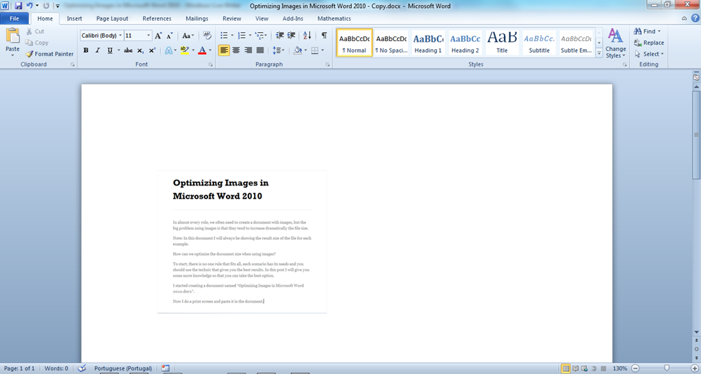 change docx file to word document