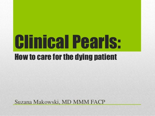 care for the dying patient document