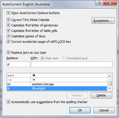 how to find abbreviations in word document 2010