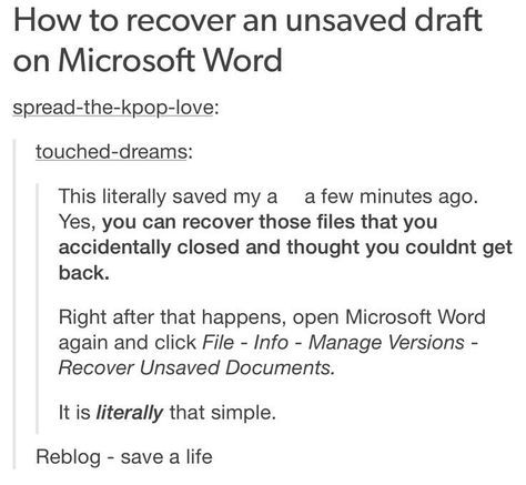 how to recover a word document you didn t save