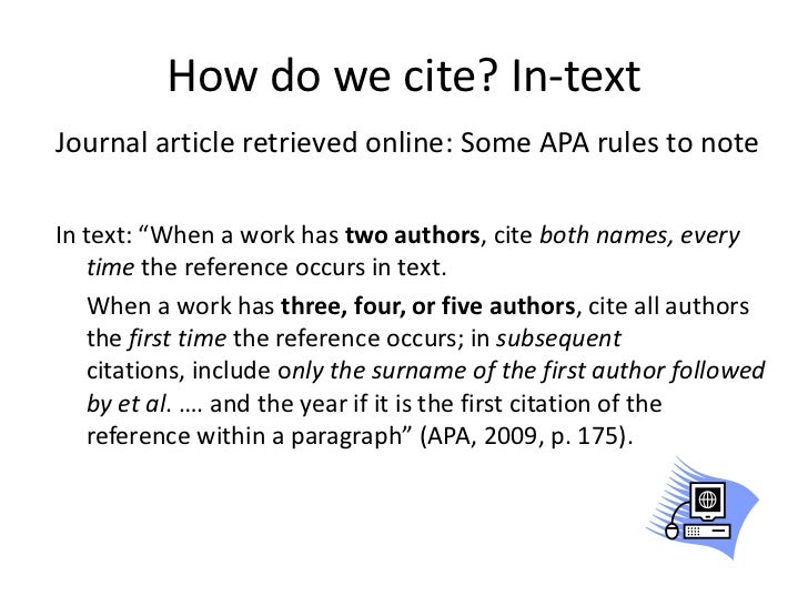 how to reference apa style in document