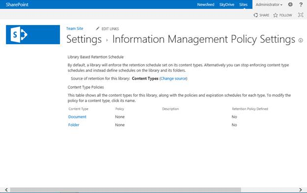 sharepoint table of contents for document library
