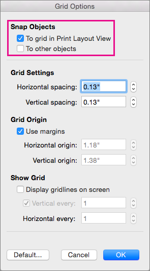 snap to grid when document grid is defined