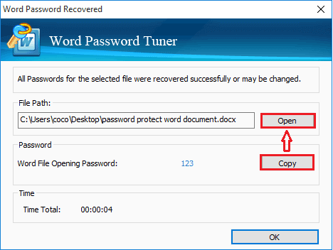 unlock protected word document with password