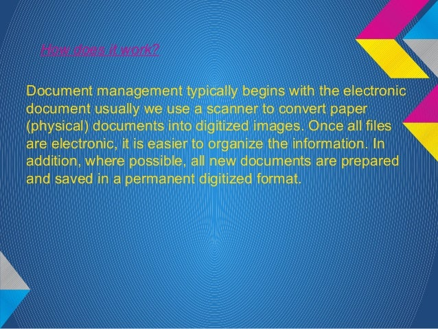 why do i need a document management system